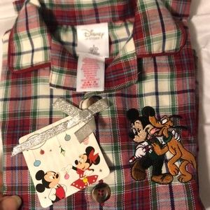 Disney Pajamas - Plaid Disney Pajama set